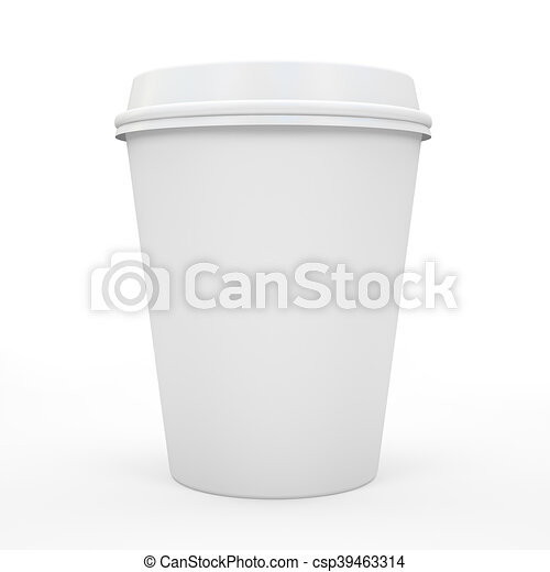 Coffee cup isolated on white background 3D rndering - csp39463314