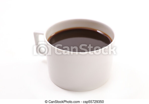 coffee cup isolated on white background - csp55729350