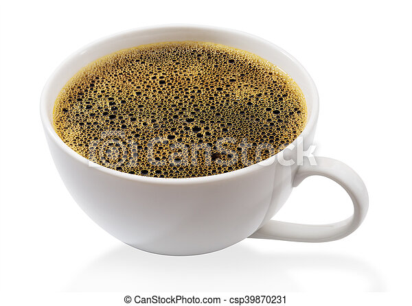 Coffee cup isolated - csp39870231