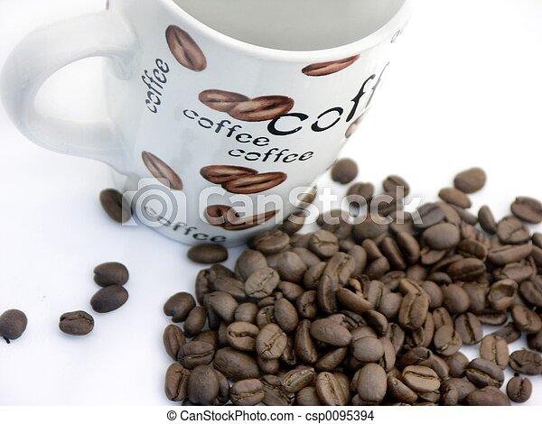 coffee cup n beans#2 - csp0095394