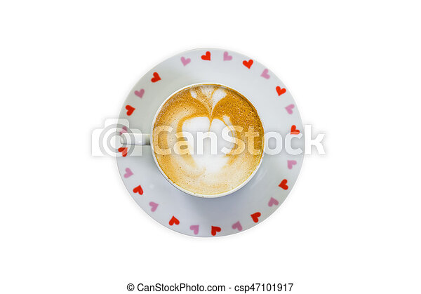 Coffee cup on isolated white background. - csp47101917