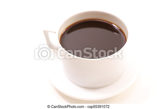 coffee cup on white background - csp55391072