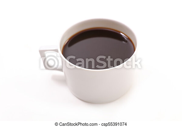 coffee cup on white background - csp55391074