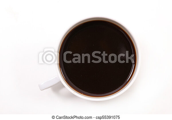 coffee cup on white background - csp55391075