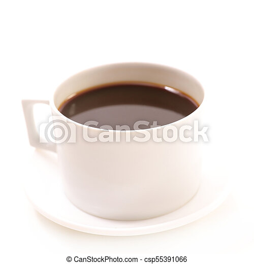 coffee cup on white background - csp55391066