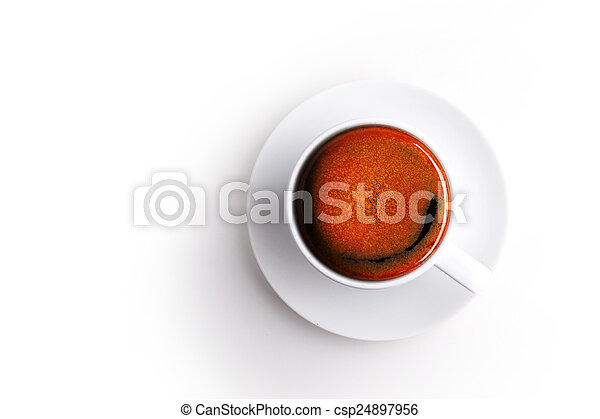 coffee cup on white background - csp24897956