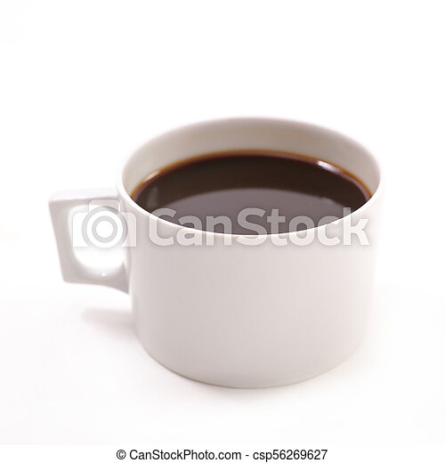 coffee cup on white background - csp56269627