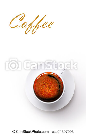 coffee cup on white background - csp24897998