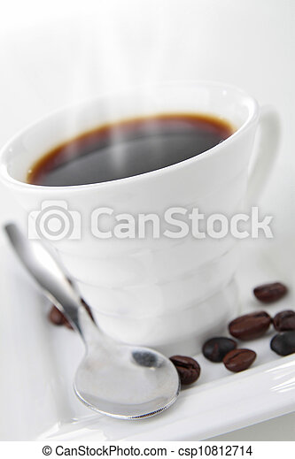coffee cup on white - csp10812714