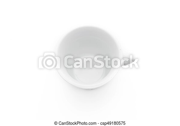 coffee cup on white - csp49180575