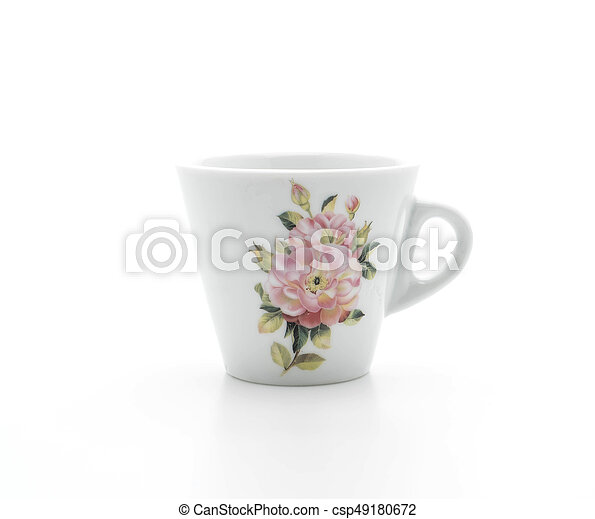 coffee cup on white - csp49180672