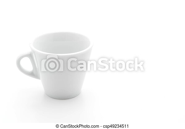coffee cup on white - csp49234511