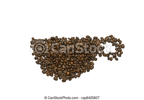 Coffee cup on white - csp6425607