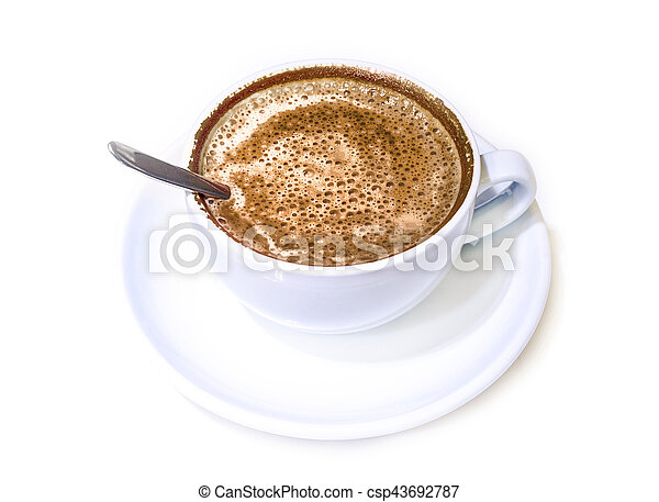 coffee cup on white - csp43692787