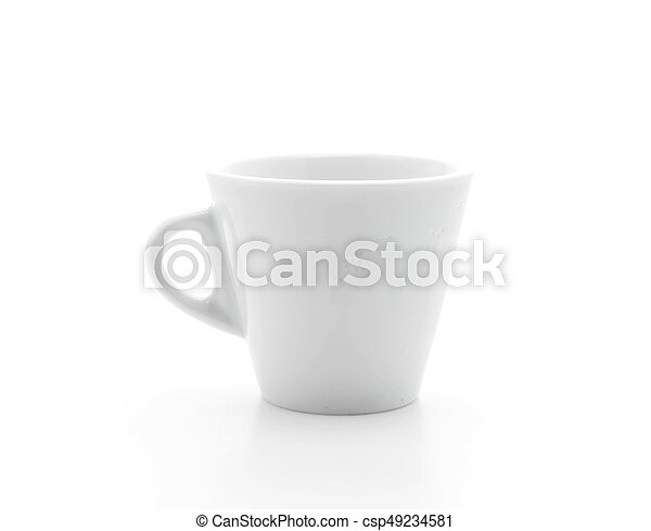 coffee cup on white - csp49234581