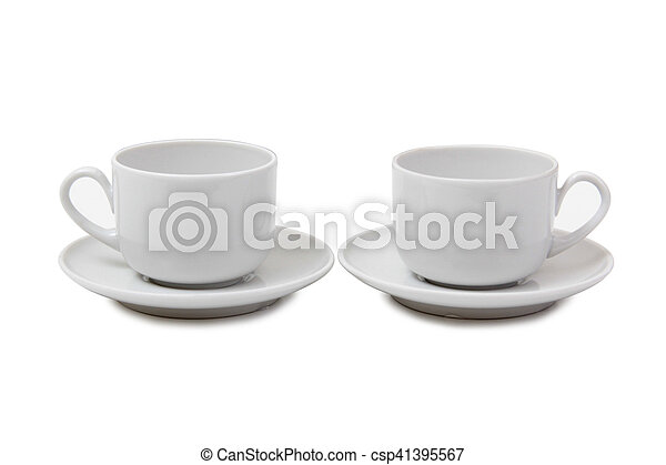 Coffee cup on white - csp41395567
