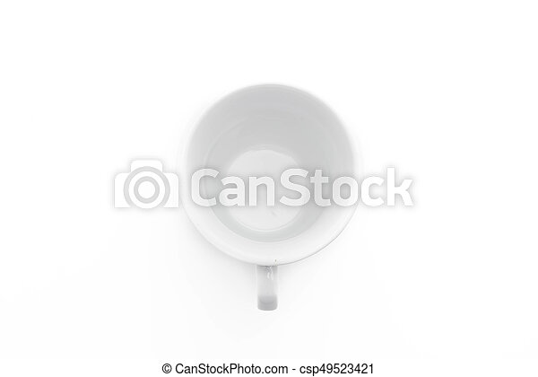 coffee cup on white - csp49523421