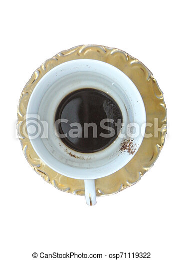 coffee cup on white - csp71119322