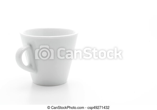 coffee cup on white - csp49271432