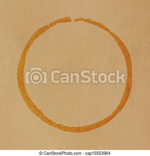 Coffee cup stain - csp15553964