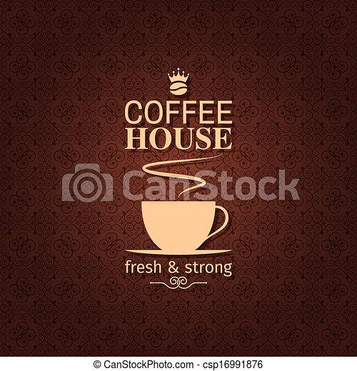 coffee cup vintage design backgroun - csp16991876