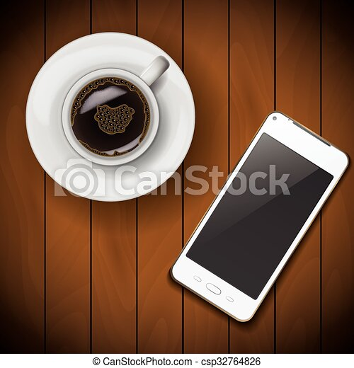 Image result for cell phone and coffee clipart