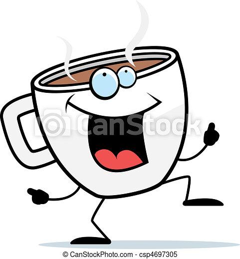 Coffee Dancing - csp4697305