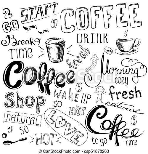 23669690b8d Coffee doodle background. Coffee doodle background