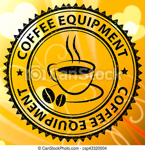 Coffee Equipment Meaning Cafe Machines Or Maker Coffee Equipment
