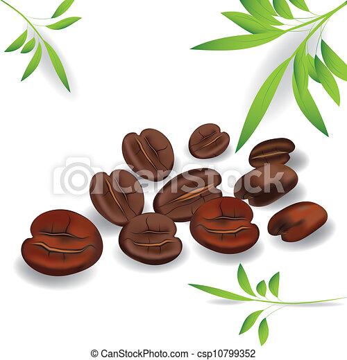 Coffee Grain Photo Realistic Vector Element For Design Image