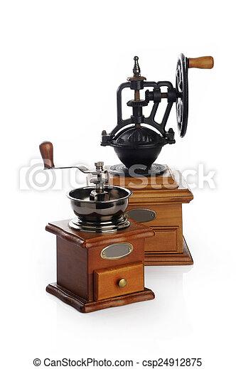 Coffee grinder on white background - csp24912875