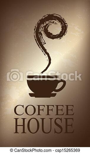 coffee house design  - csp15265369