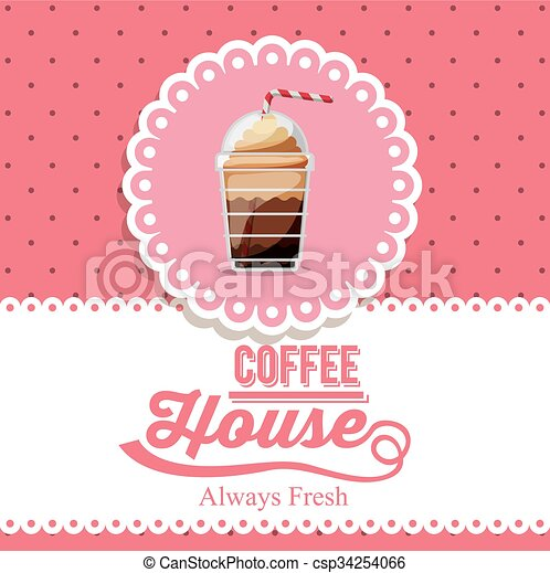 coffee house design  - csp34254066