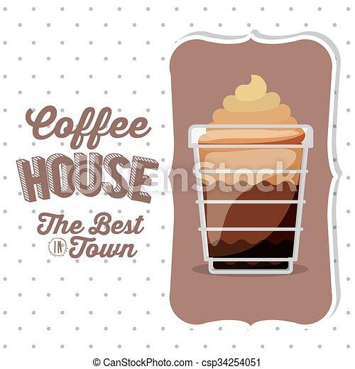coffee house design  - csp34254051