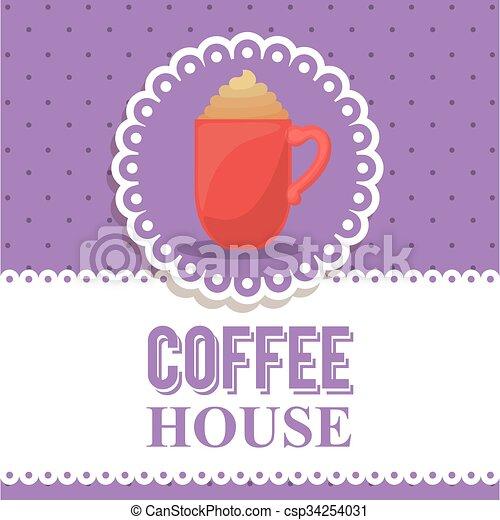 coffee house design  - csp34254031