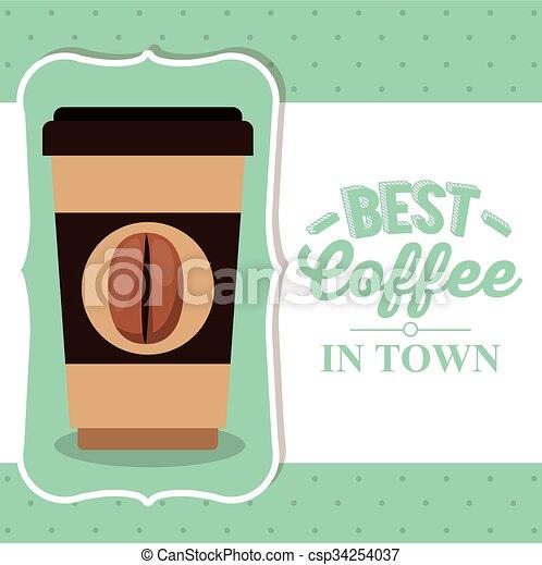 coffee house design  - csp34254037