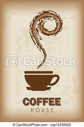 coffee house design  - csp15230622