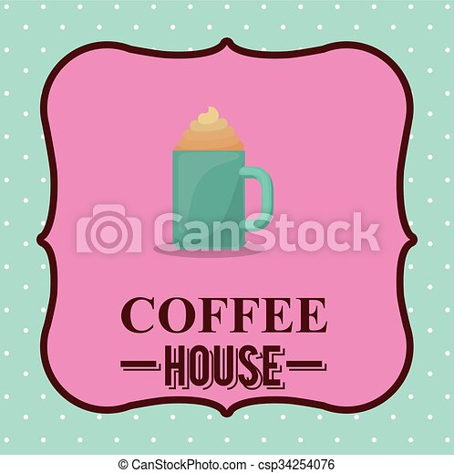 coffee house design  - csp34254076