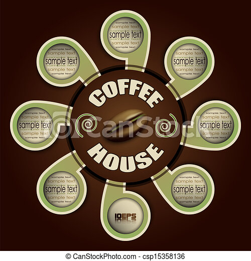 coffee house with labels - csp15358136