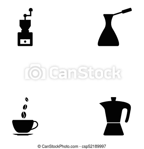 coffee icon set - csp52189997