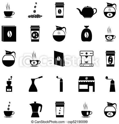 coffee icon set - csp52190099