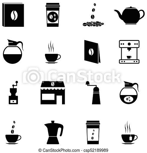 coffee icon set - csp52189989