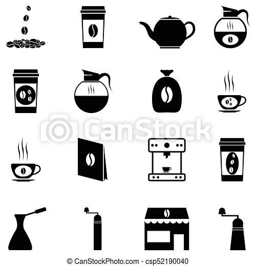 coffee icon set - csp52190040
