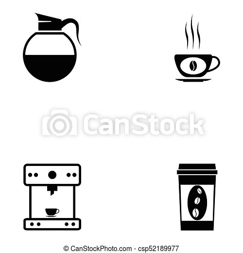 coffee icon set - csp52189977