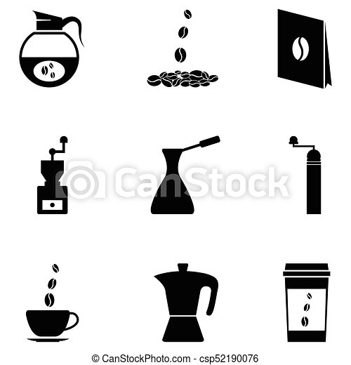 coffee icon set - csp52190076