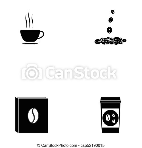coffee icon set - csp52190015