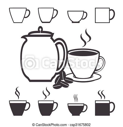 Coffee icon set - csp31675802