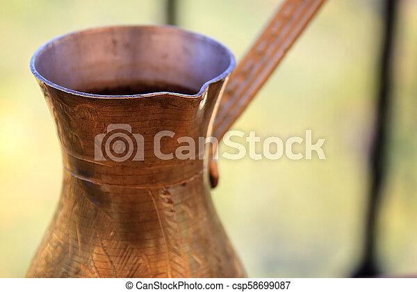 Coffee in Brass Pot - csp58699087
