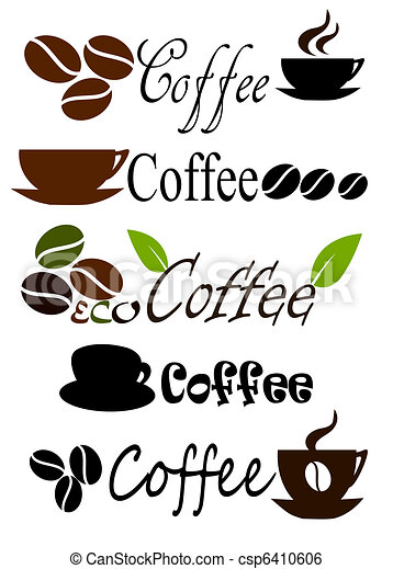 Coffee labels. Set of coffee label designs. vector ...