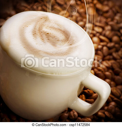Coffee Latte or Cappuccino - csp11472584
